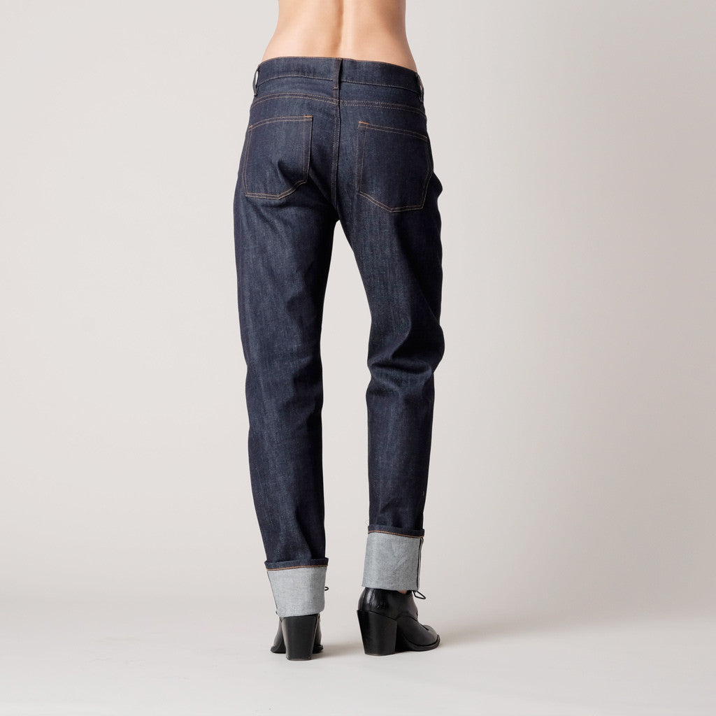 Brooklyn Denim Co Womens Boyfriend Jean Raw Selvedge