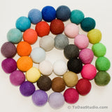 4cm Wool Felt Ball Chain