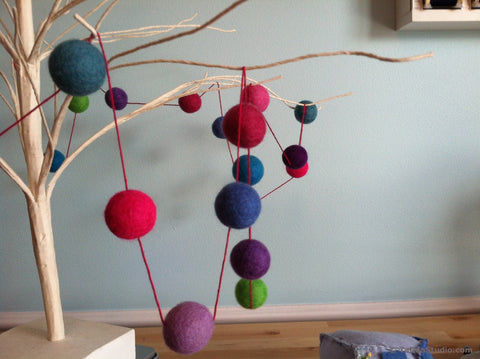 Craft Party!  Felt Balls - Garlands, Trivets and Bouquets