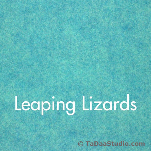 Leaping Lizards Wool Felt