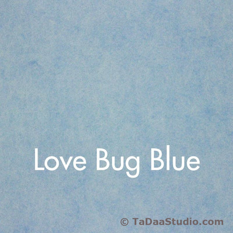 Love Bug Blue Wool Felt