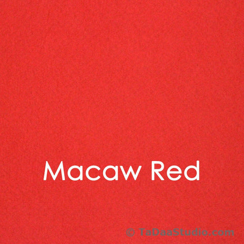 Macaw Red Bamboo Felt