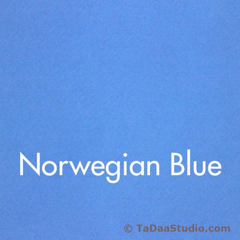 Norwegian Blue Wool Felt