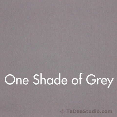 One Shade of Grey Wool Felt