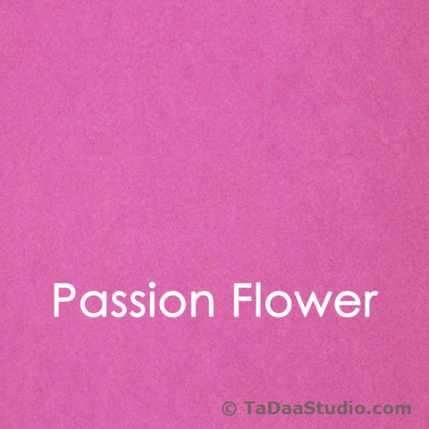 Passion Flower Bamboo Felt