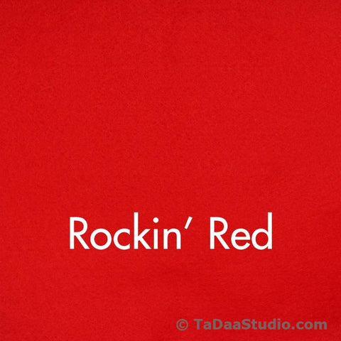 Rockin Red Wool Felt