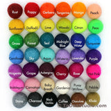 1cm Wool Felt Ball Color Chain - 42 colors