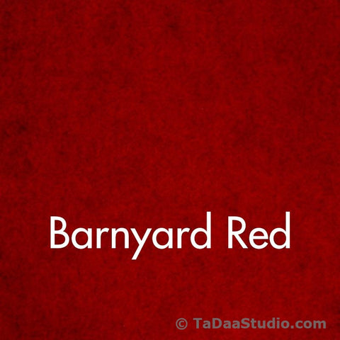 Barnyard Red Wool Felt