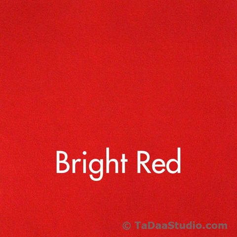 Bright Red Wool Felt