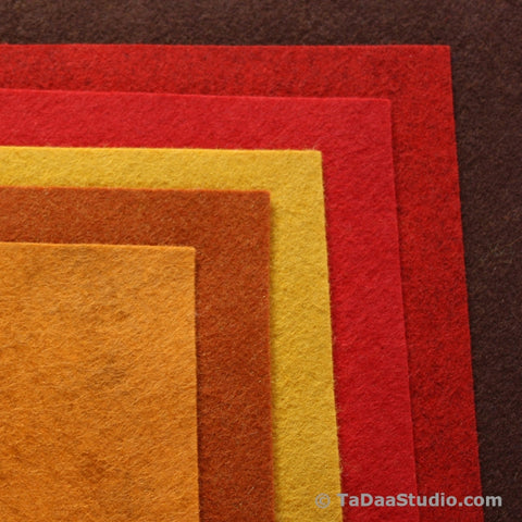 Autumn Wool Felt Palette
