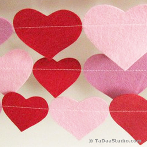 Be My Valentine Wool Felt Garland