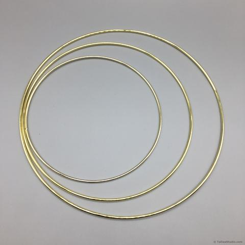 Gold Tone Metal Hoops