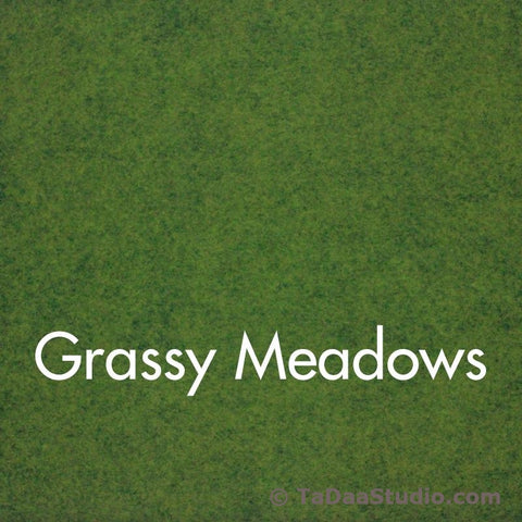 Grassy Meadow Wool Felt