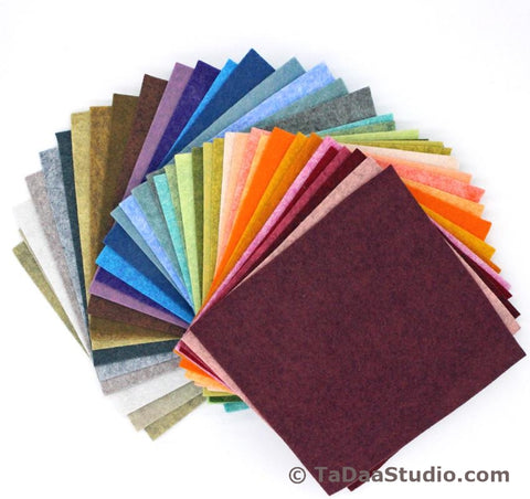 Complete Heathered Wool Felt Palette