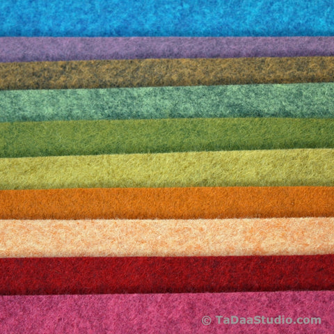 Heathered Wool Felt Palette