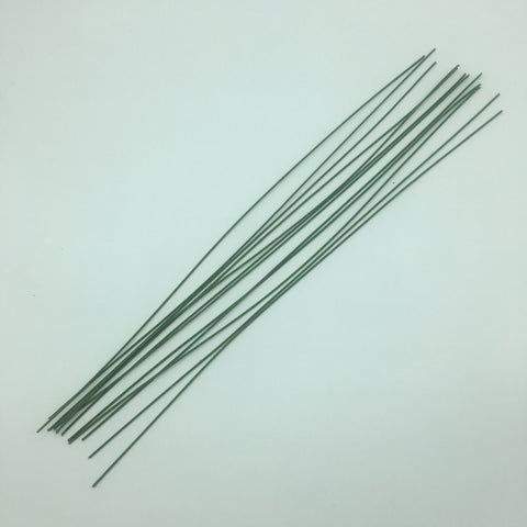 "Floral Cloth Stem Wire - Green 18"" long - 12 pcs per pack"