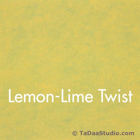 Lemon Lime Twist Wool Felt