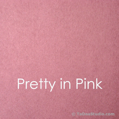 Pretty in Pink Wool Blend Felt