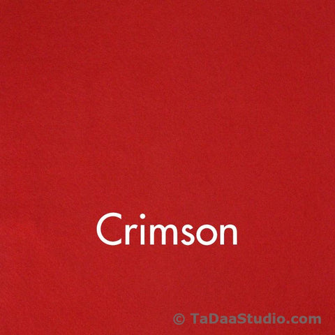 Crimson Red Wool Felt