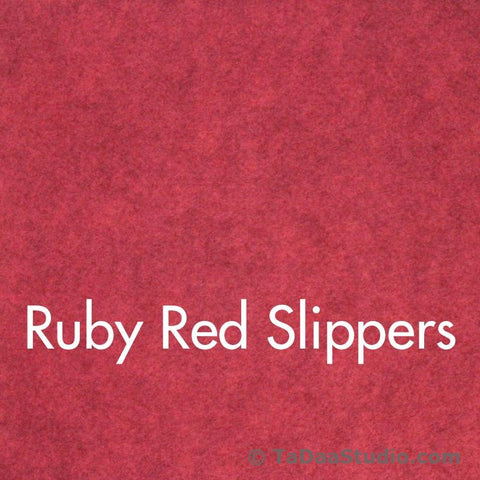 Ruby Red Slippers Wool Felt