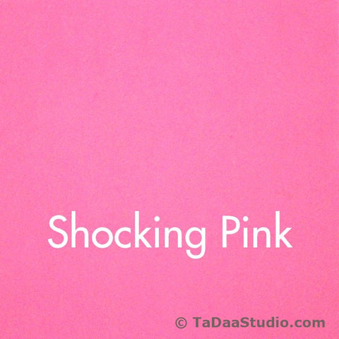 Shocking Pink Wool Felt