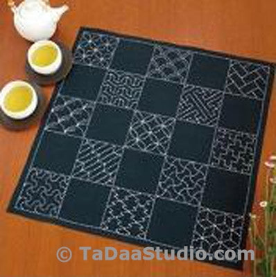 Multi-Pattern Sashiko Cloth