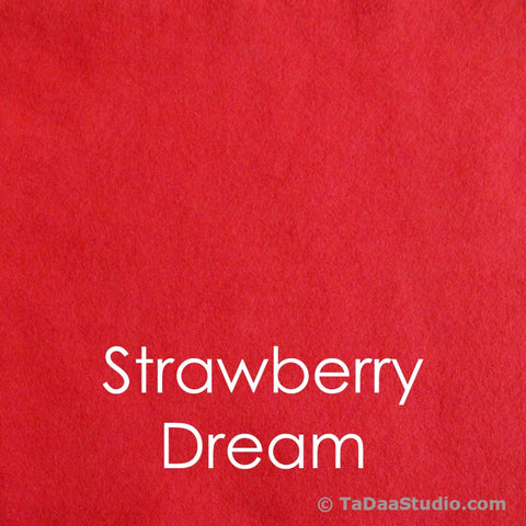 Strawberry Dream Wool Felt Squares