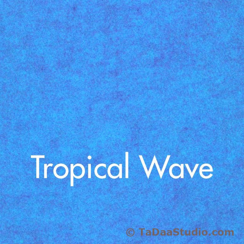 Tropical Wave Wool Felt