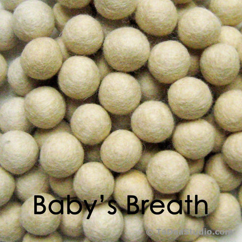Baby's Breath Wool Felt Balls