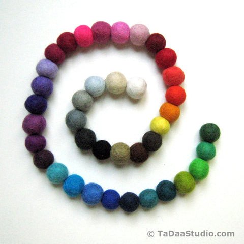 2cm Wool Felt Ball Chain