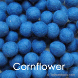 Cornflower Blue Wool Felt Balls