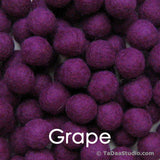 Grape Wool Felt Balls