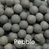 Pebble Wool Felt Balls