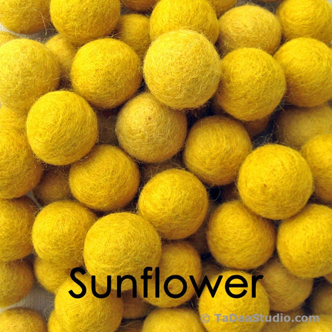Sunflower Wool Felt Balls