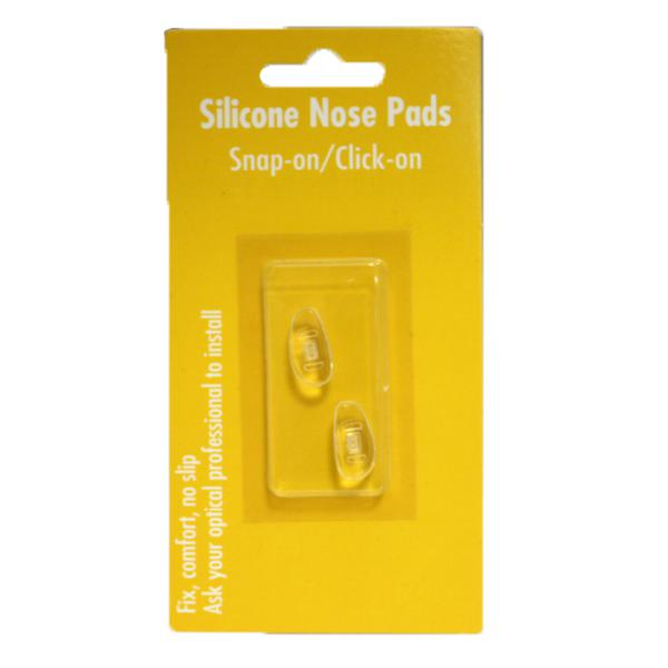 17mm D-Shape Silicone Nose Pads Snap-On (493-17)-Pro-Optics LLC