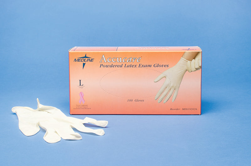 Accucare Powdered Latex Examination Gloves-Pro-Optics LLC