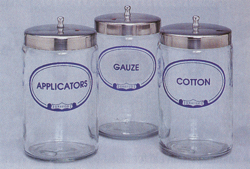 Glass Dispenser Jar (G3454)-Pro-Optics LLC
