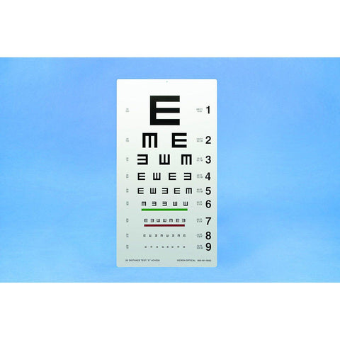 """E"" Distance Test Chart (CHE20)-Pro-Optics LLC"