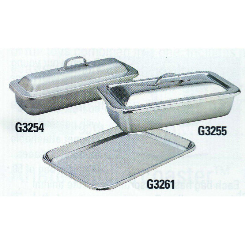 Stainless Steel Flat Instrument Tray (No Cover - G3261)-Pro-Optics LLC