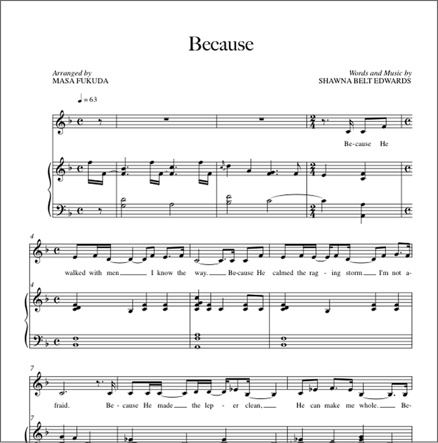Because (Vocal Solo With Simple Alto)