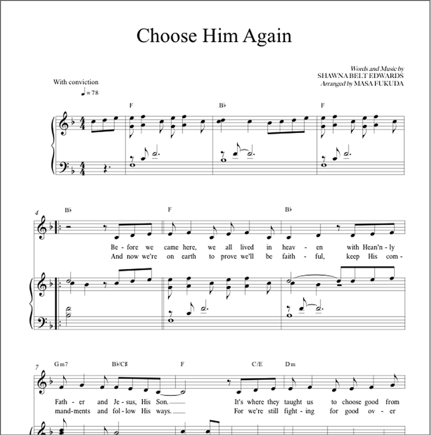Choose Him Again (Vocal Solo)