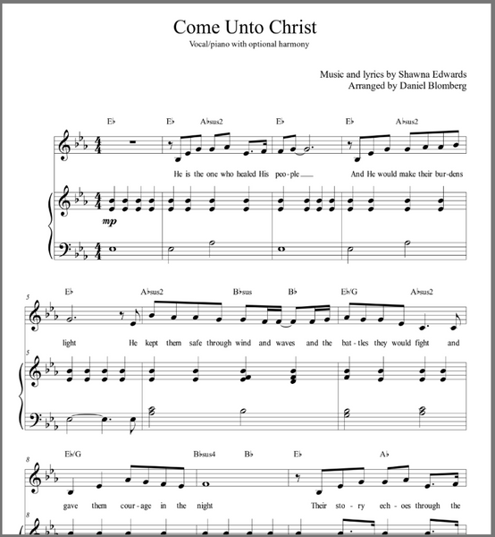 Come Unto Christ - Vocal solo with simple alto
