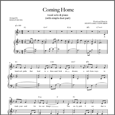 Coming Home (Vocal Solo - w/ simple alto part)