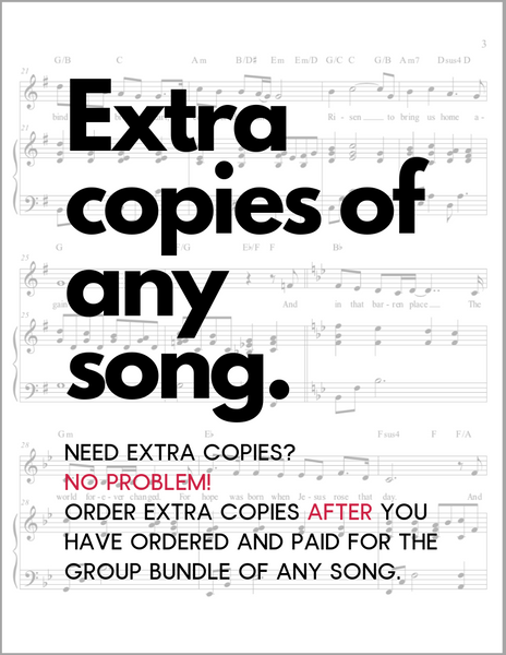 Extra Copies of Sheet Music