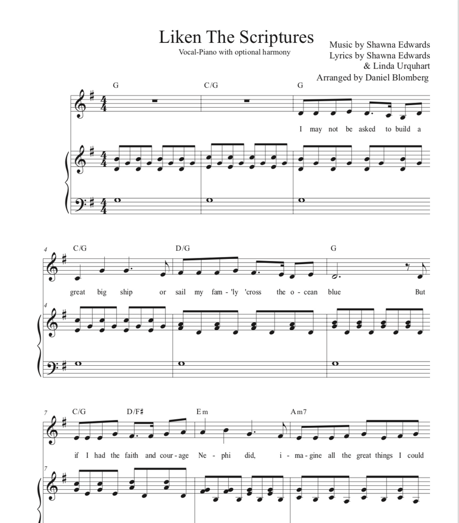 Liken the Scriptures (solo with simple harmony)