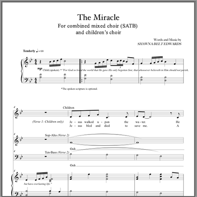 The Miracle (SATB & Children's Choir)