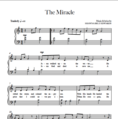 The Miracle (With simplified piano accompaniment)