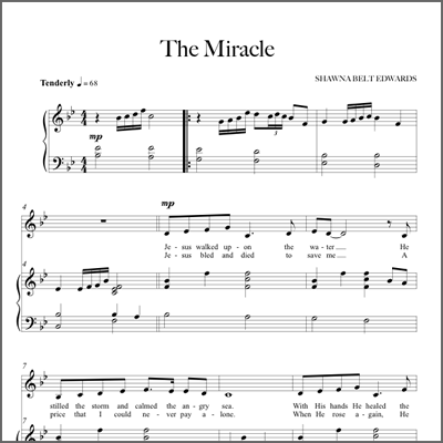 The Miracle - Vocal Solo & Piano (with simple alto part)