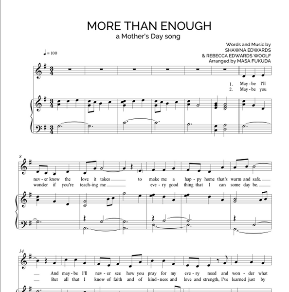 More Than Enough - Vocal Solo (with simple alto)