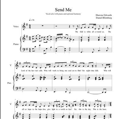 Send Me (Vocal solo with simple alto)